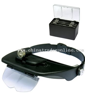 Illuminated head magnifier