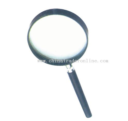 Magnifier with metal sointer