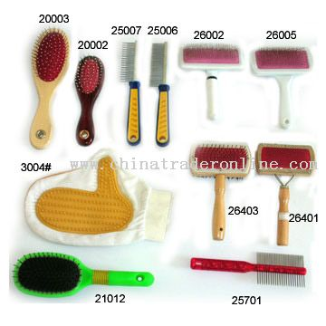 Pet Brush, Comb and Glove from China
