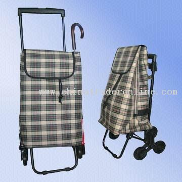 Three-wheel Shopping Cart with Push Button Trolley system