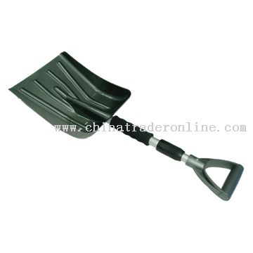 Snow Shovel with Telescopic Aluminium Handle
