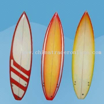 Sand-Finished Surf Boards with Thruster