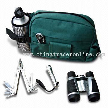 15-in-1 Stainless Steel Camping Tool Kit with 500mL Aluminum Water Bottle