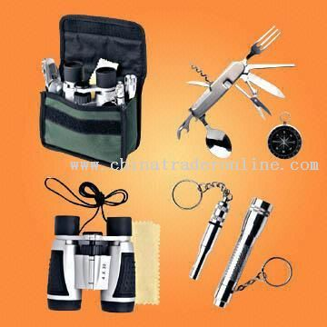 Full-function Adventure Gift Set with 8-in-1 Stainless Steel Camping Tool