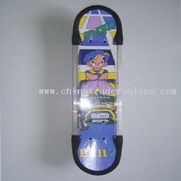 Musical and Flashing Skateboard with Aluminum and Plastic Brackets