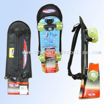Skateboard with Carry Bag