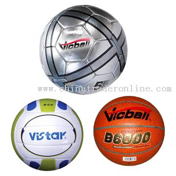 PU / PVC / TPU Soccer Ball, Volleyball, Basketball