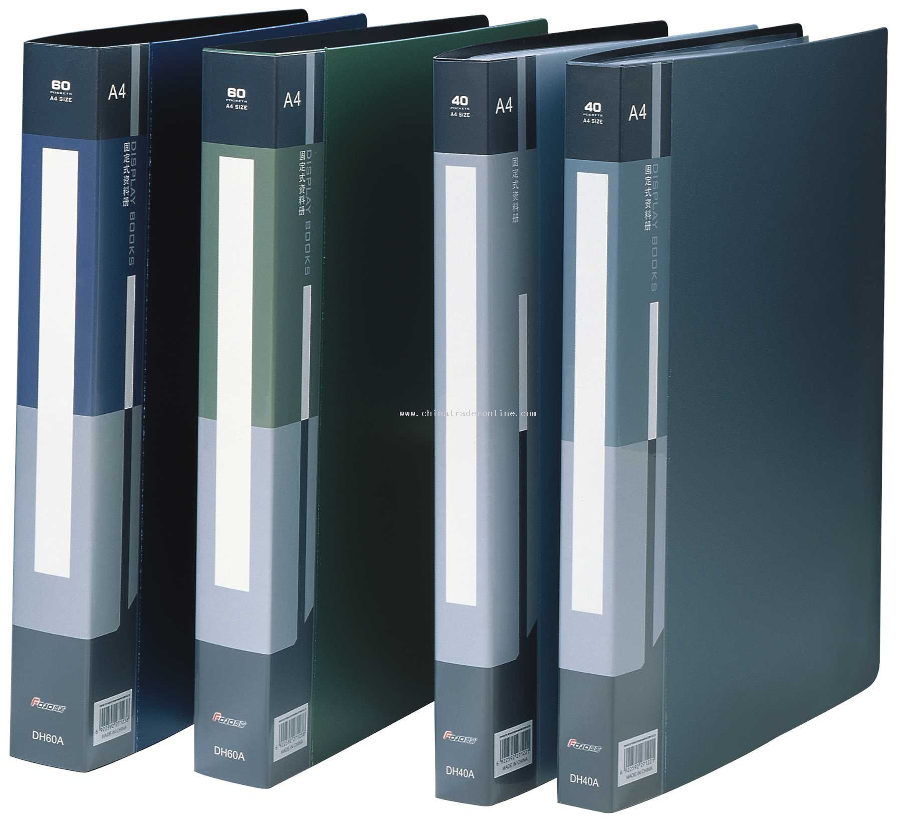 2-deck metal color display book(40-60 inner bag)