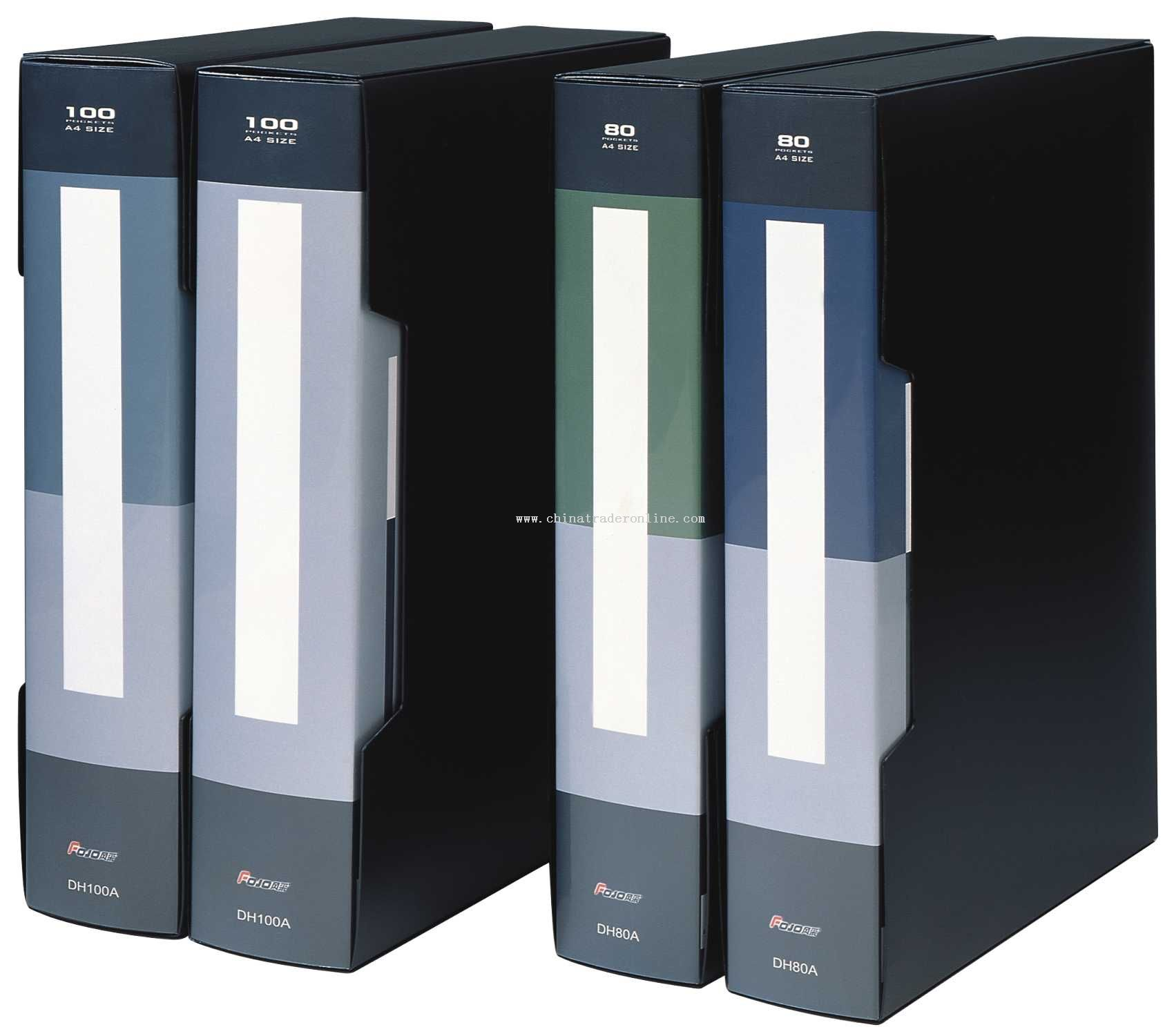 2-deck metal color display book(80-100 inner bag)
