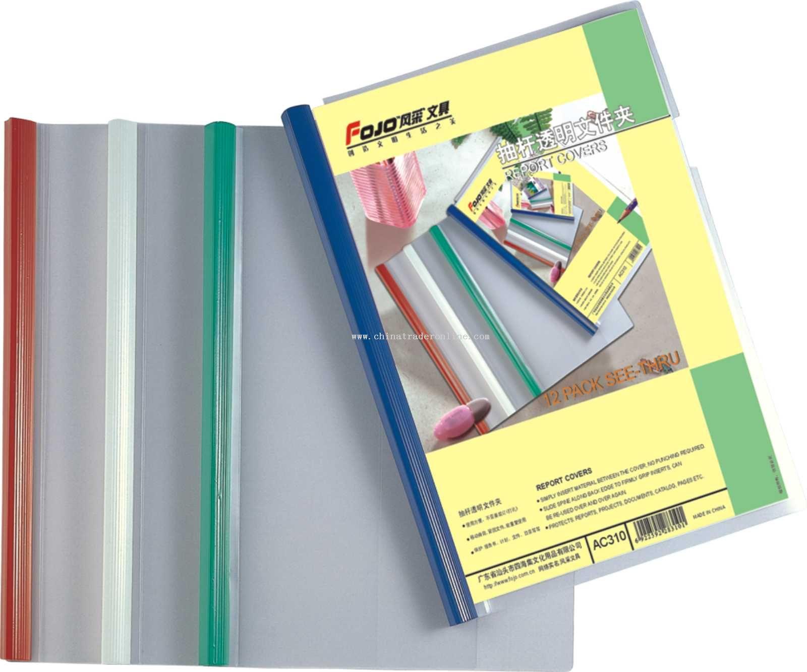 Folder with binding ridge(thin PP board)