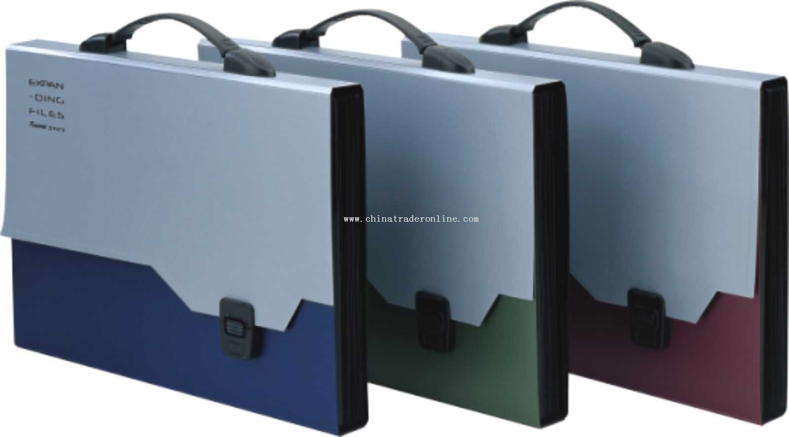 Portable metal color expanding bag(lever button)