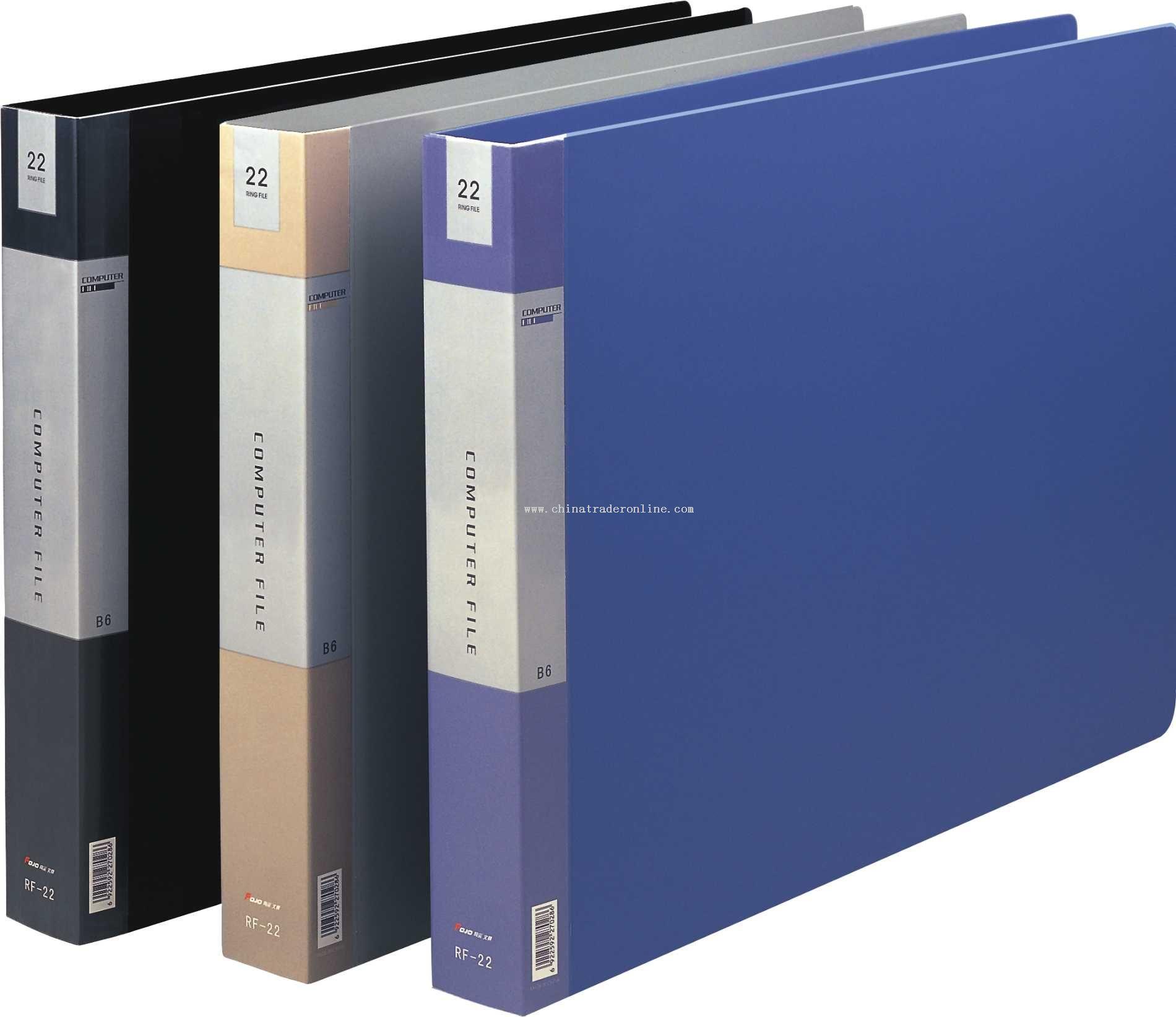 22-hole computer documents folder