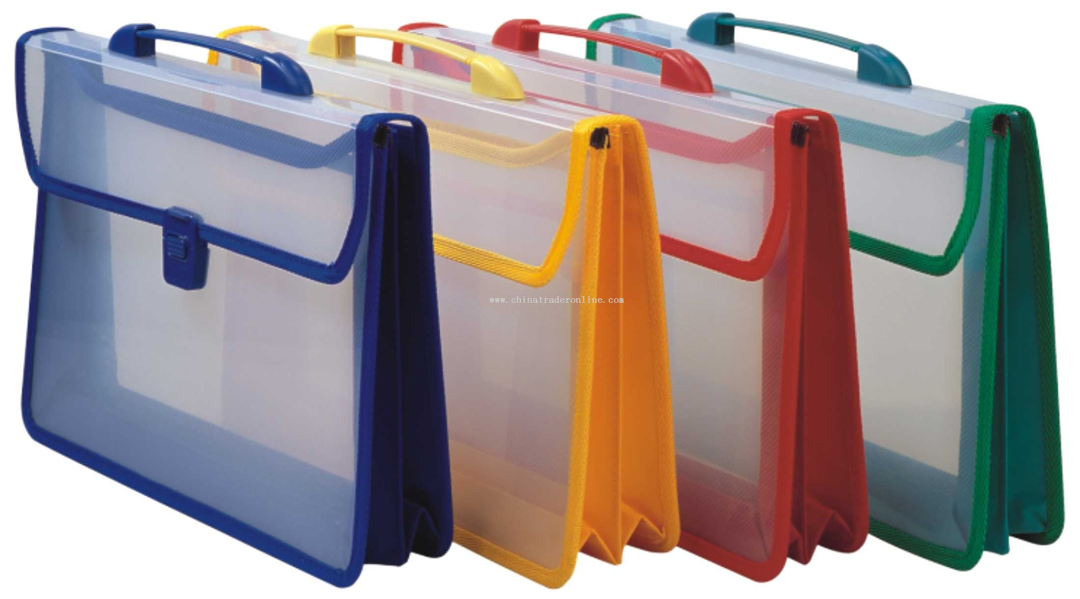 Portable colorful PP business bag(2-layer)