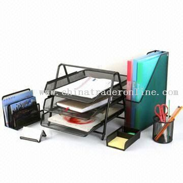 Desktop Office Set with Letter and Pen Holder