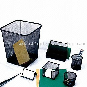 Stationery Set Made of Metal Mesh