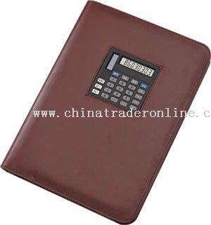 Zip closure portfolio with new design square mid display dual power calculator
