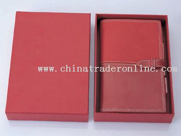 jointing glossy leather notebook sets
