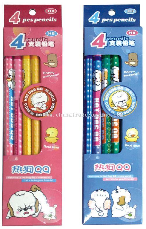 4pcs Hexagonal Pencil