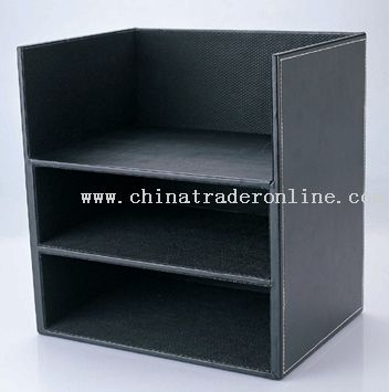 three layer documents shelf