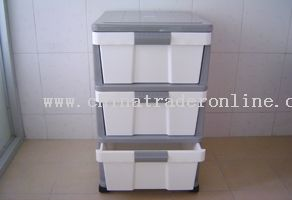 3-layer assembled cabinet with wheel