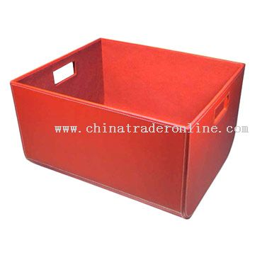 Faux Leather Storage Case From China