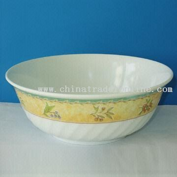 Melamine Cereal Bowl with Wavy Body