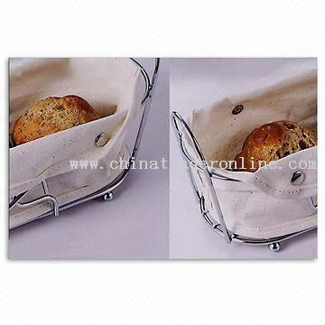 Bread Basket with Chrome-Plated Holder