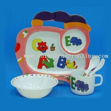 5pcs Train Kids Dinner Set