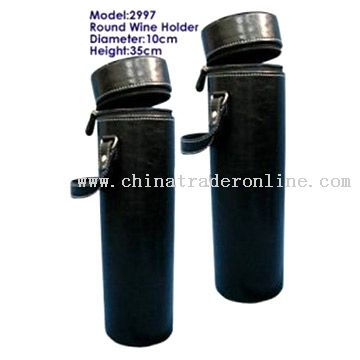 Faux Leather Wine Bottle Carrying Cases