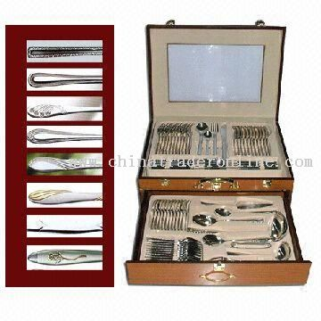 72-piece Cutlery Set with Dinner Knife, Salad Fork and Tea Spoon