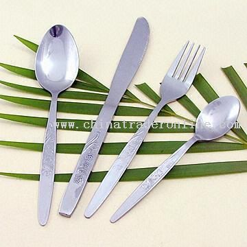 Stainless Steel Flatware with Machine-polished Fork and Knife