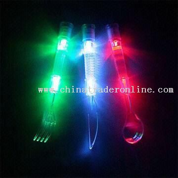 flashing LED Cutlery RoHS-approved Light up Knives Spoons and Forks in a Variety of Colors