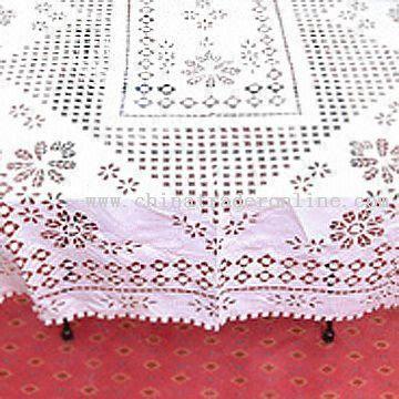 Cutwork Table Linen in Satin Fabric