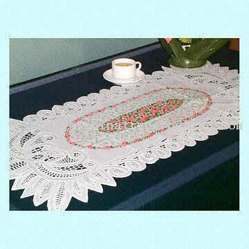 Easy-to-Clean Vinyl Table Linen with Floral Print from China