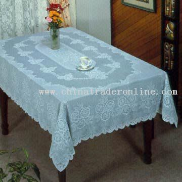 Excellent-Quality Vinyl Crochet Tablecloth from China
