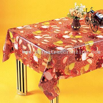 PVC Non-transparent Tablecloth from China