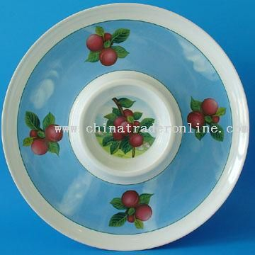 Chip & Dip Melanine Tray from China