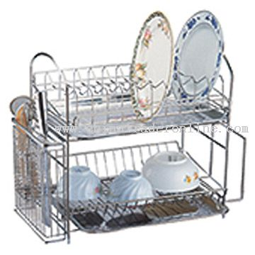 Two-Layer Bowl-Plate Rack