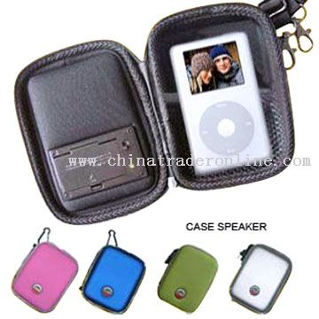 MP3 Player Case Speaker