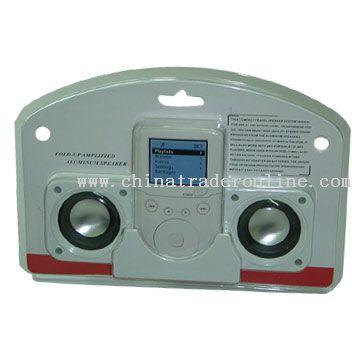 Mini Fold-up Stereo Speaker for iPod