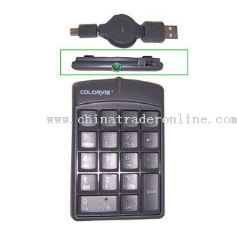 18-Key USB Retractable Numeric Keypad