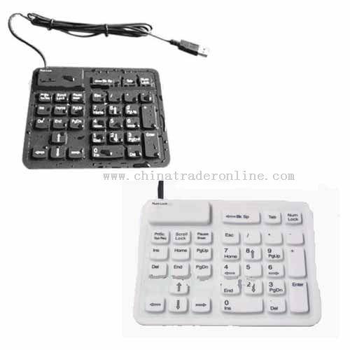Waterproof  flexible Number Pad