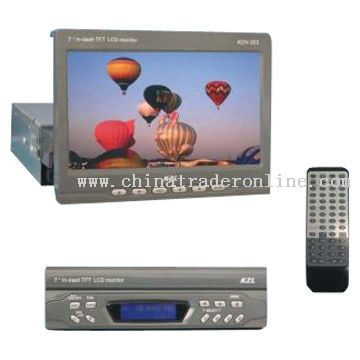 7inch In-Dash TFT LCD Monitor with Radio and TV