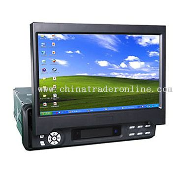 Fully Motorized In-Dash LCD Monitor with VGA and TV