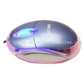 Transparent Wired 3D Optical Mouse