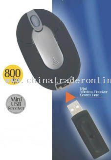 Wireless Optical Mouse(USB Receiver Can Be Put Into The Mosue)