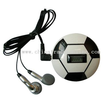 Football Shape Pedometer with Radio