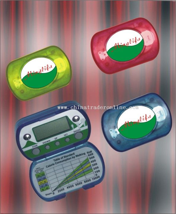 2-In-1 Calorie Pedometer With Fat Analyzer