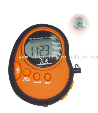 Pedometer with Panic Alarm