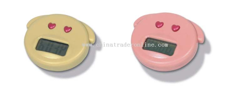 Pig-shape pedometer/step counter with different colors